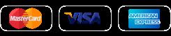 Master Card、VISA、American Express